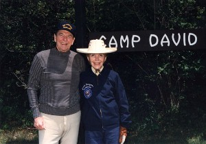 The Reagans at Camp David